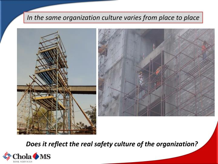 In the same organization culture varies from place to place