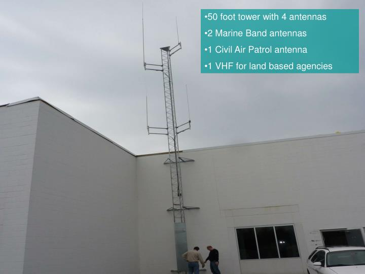 50 foot tower with 4 antennas