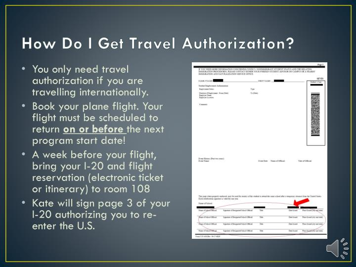 How Do I Get Travel Authorization?