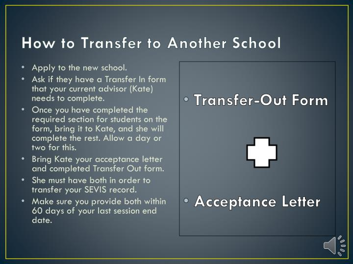 How to Transfer to Another School