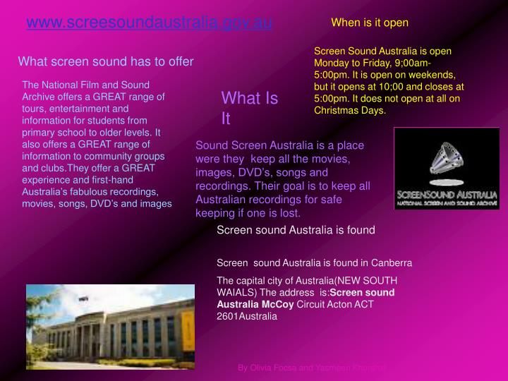 www.screesoundaustralia.gov.au