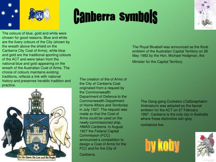 Canberra  Symbols