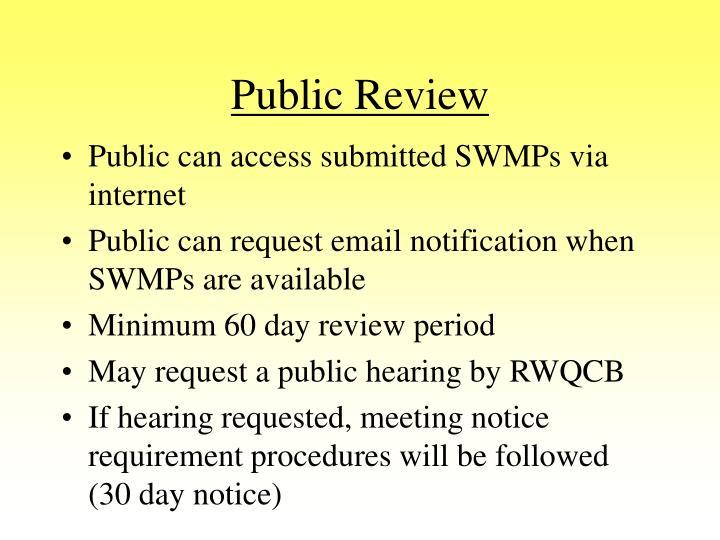 Public Review