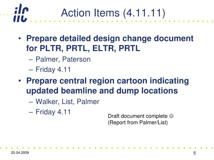Action Items (4.11.11)