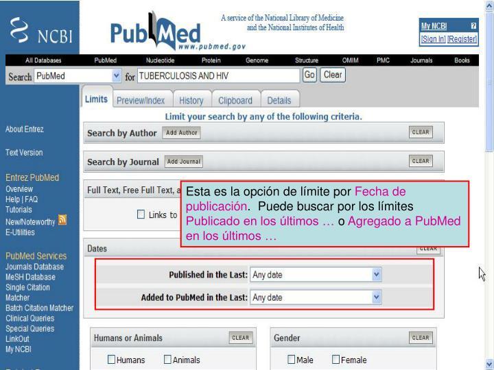 Limit by Publication Date