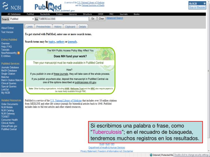 PubMed home page 1