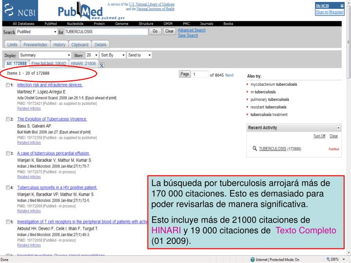 PubMed search results