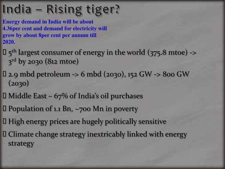 India – Rising tiger?