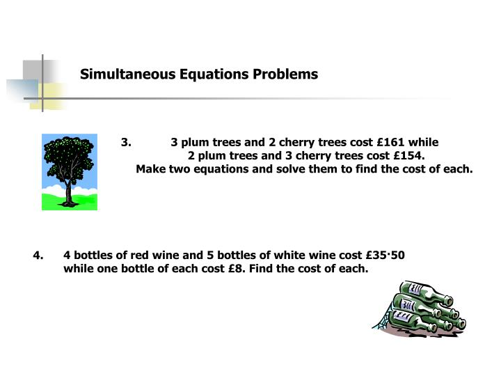 Simultaneous Equations Problems