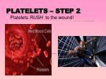 platelets step 2