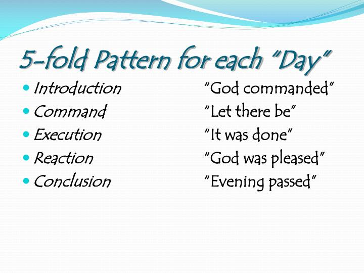 "5-fold Pattern for each ""Day"""