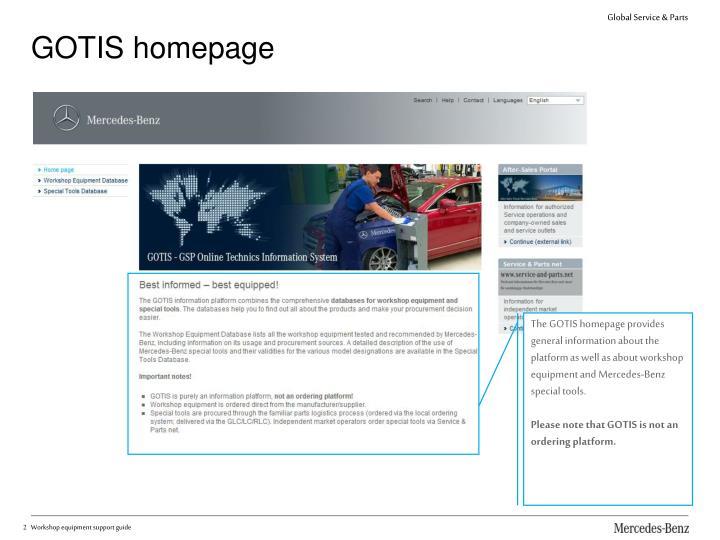GOTIS homepage
