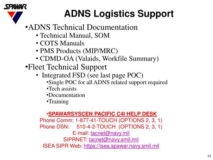 ADNS Logistics Support
