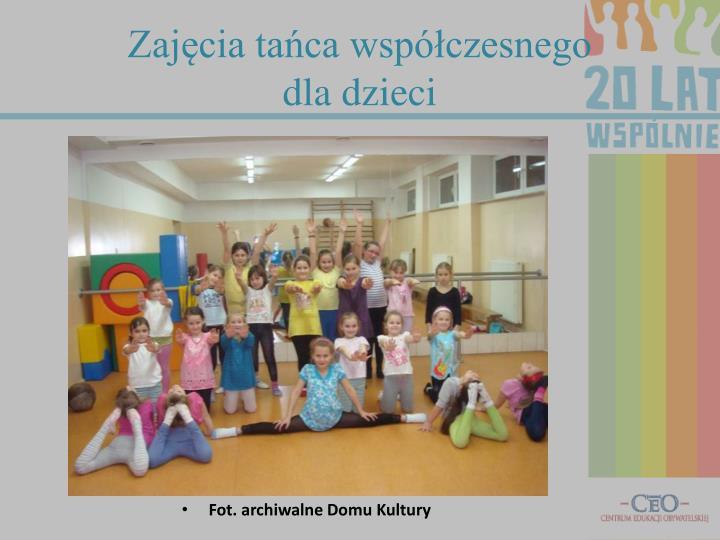 Zajęcia tańca współczesnego