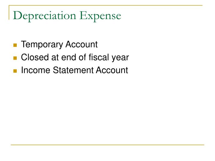 Depreciation Expense