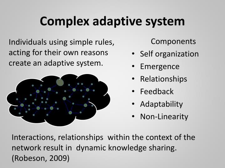 Complex adaptive system