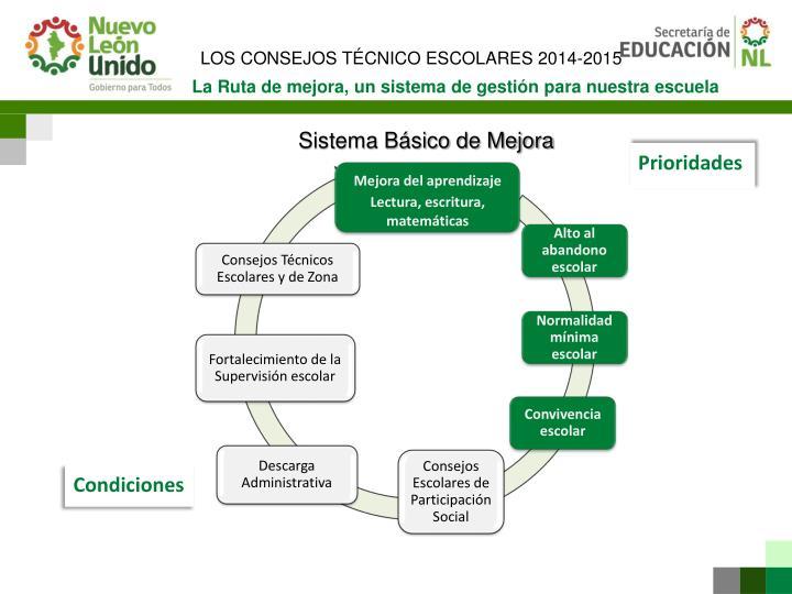 LOS CONSEJOS TÉCNICO ESCOLARES 2014-2015