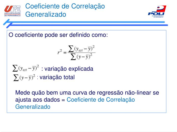 Coeficiente de Correlação Generalizado