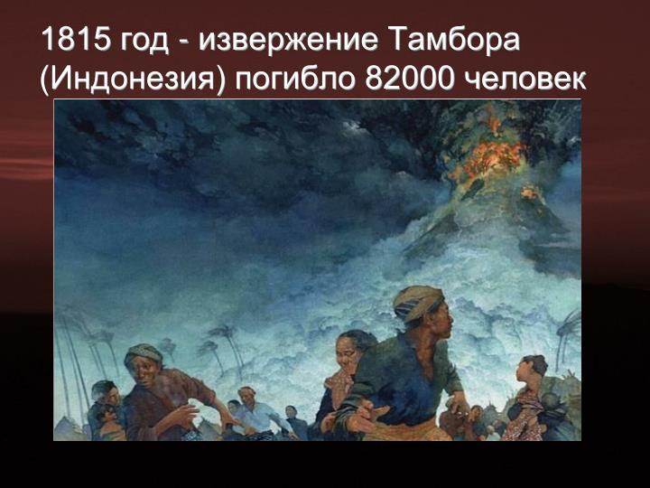 1815 год - извержение