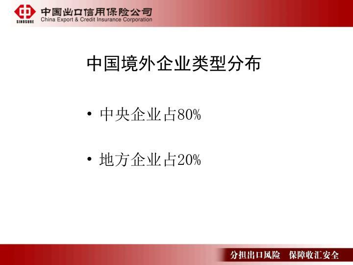 中国境外企业类型分布