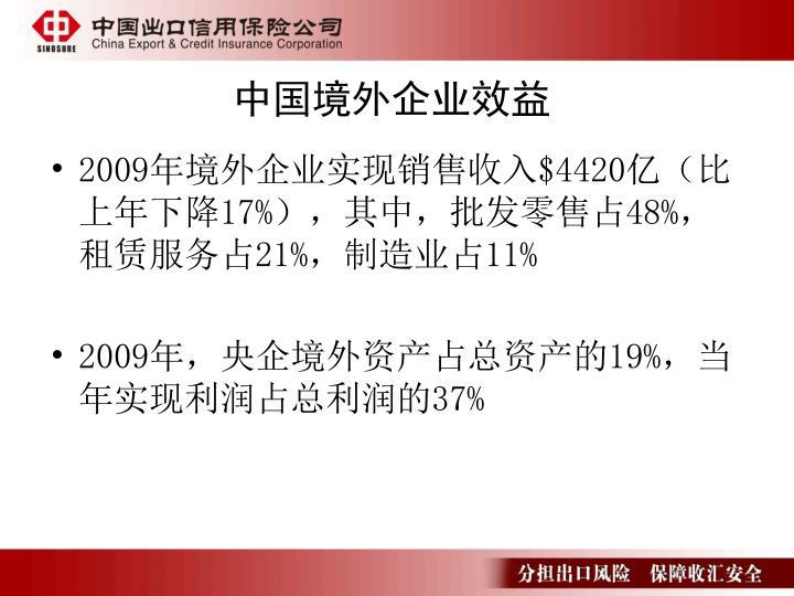 中国境外企业效益