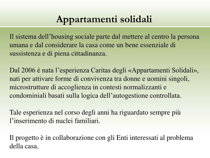 Appartamenti solidali