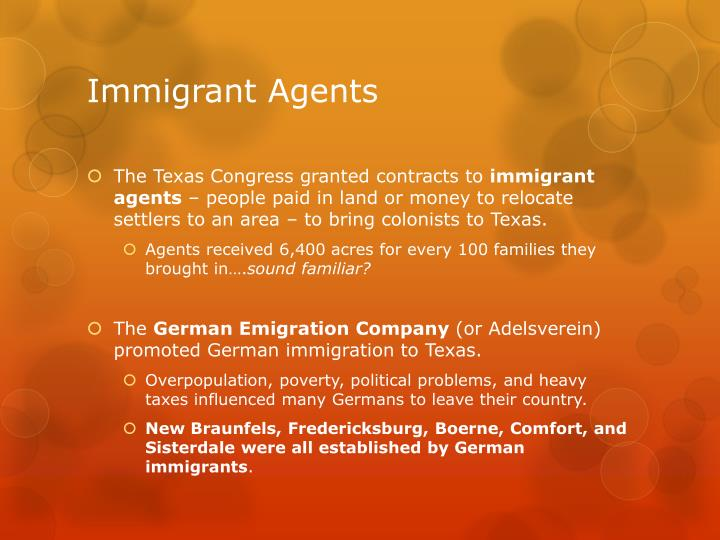 Immigrant agents