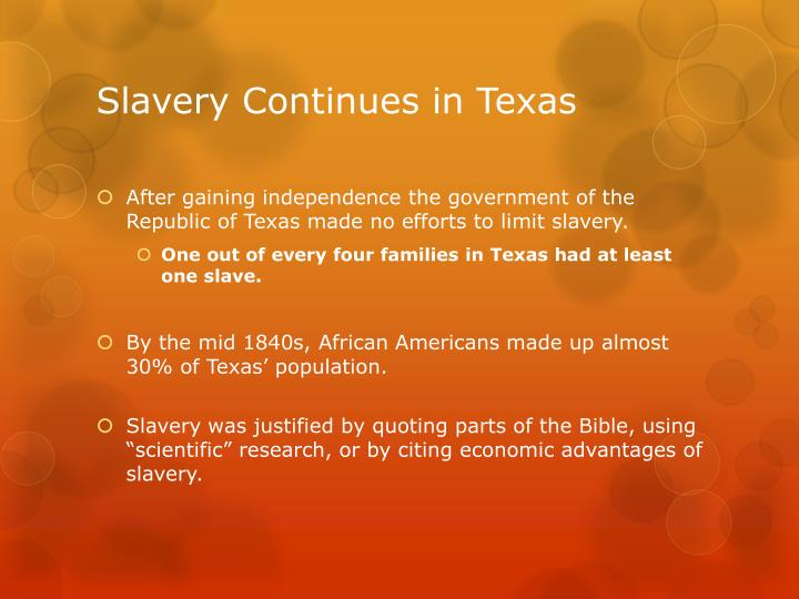 Slavery Continues in Texas