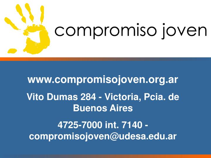 www.compromisojoven.org.ar