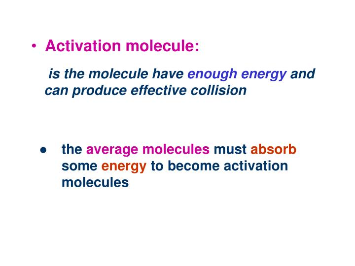 Activation molecule: