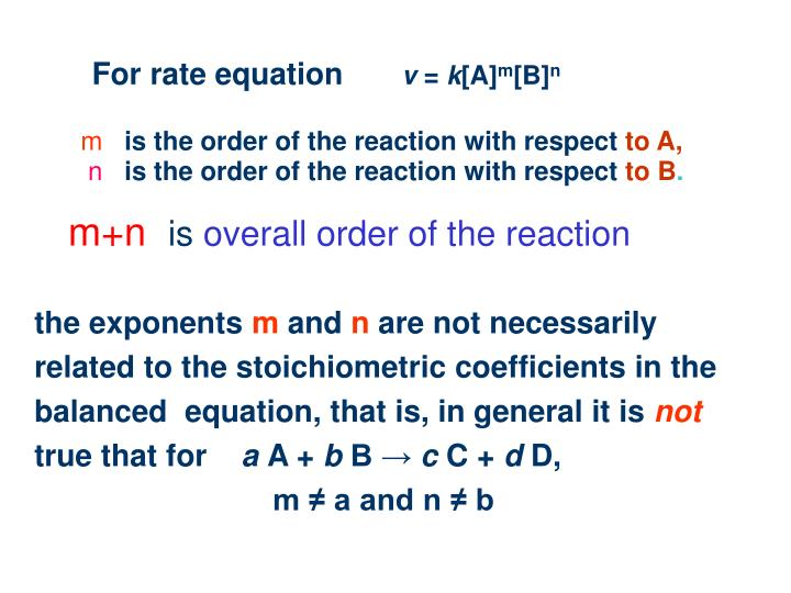 For rate equation