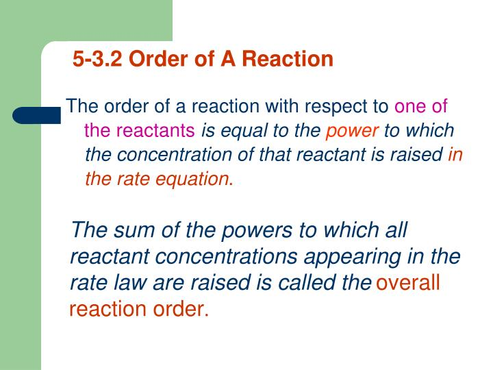 5-3.2 Order of A Reaction