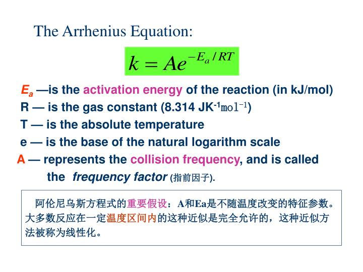 The Arrhenius Equation: