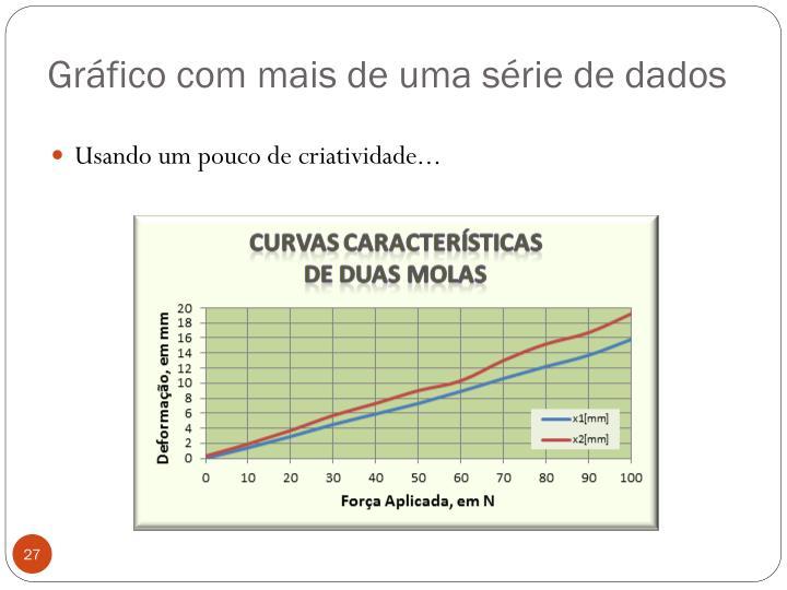Gráfico com mais de uma série de dados
