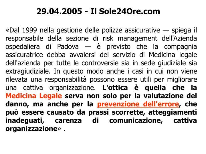 29.04.2005-Il Sole24Ore.com