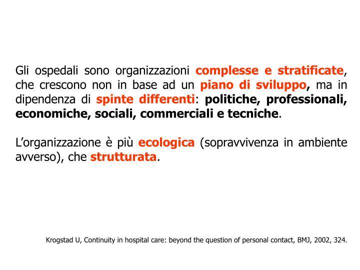 Gli ospedali sono organizzazioni