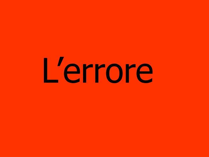 Lerrore