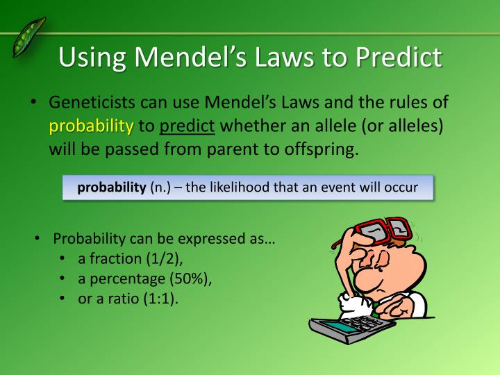 Using Mendel's Laws to Predict