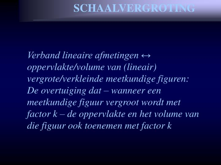 SCHAALVERGROTING