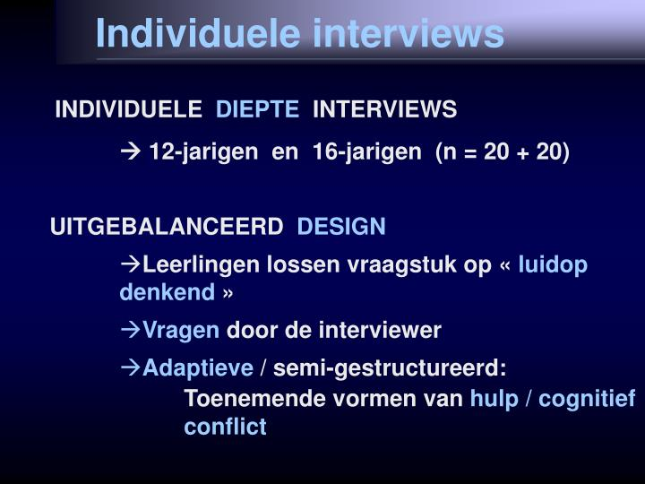 Individuele interviews