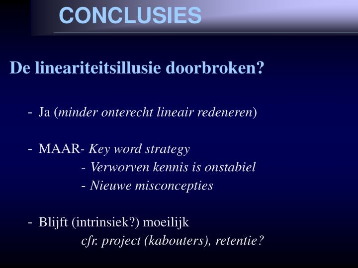 CONCLUSIES