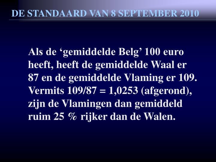 DE STANDAARD VAN 8 SEPTEMBER 2010