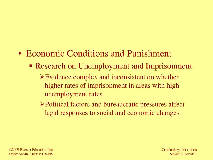 Economic Conditions and Punishment