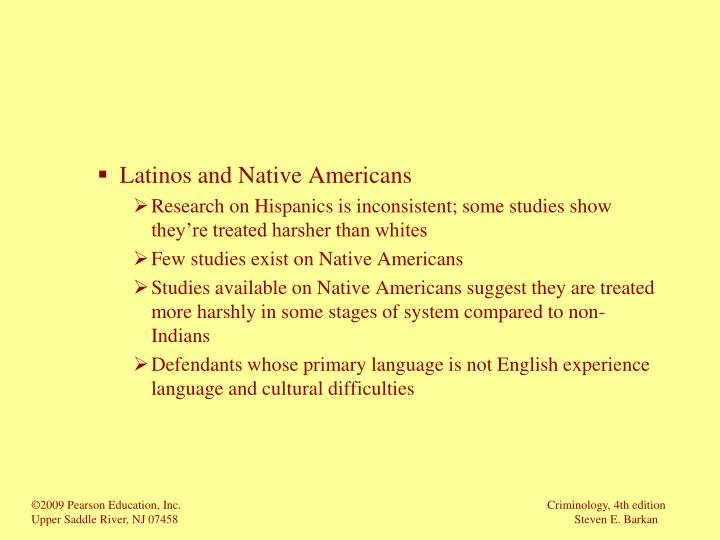 Latinos and Native Americans