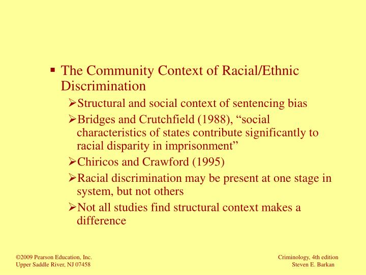 The Community Context of Racial/Ethnic Discrimination