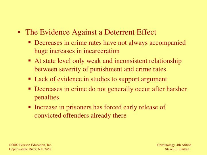 The Evidence Against a Deterrent Effect