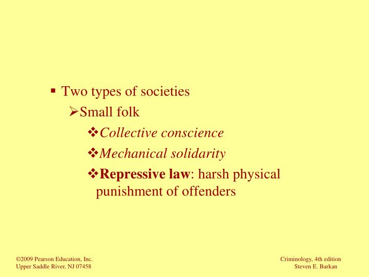 Two types of societies