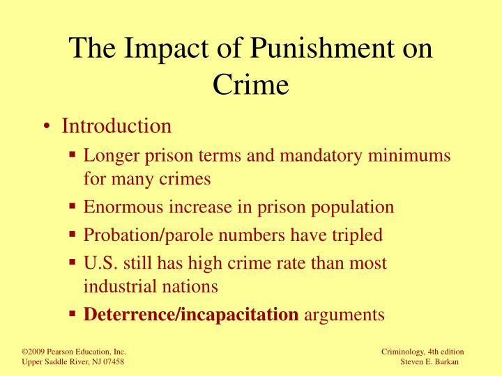The Impact of Punishment on Crime