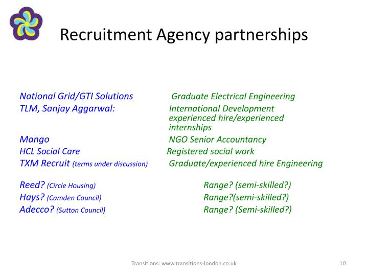 Recruitment Agency partnerships