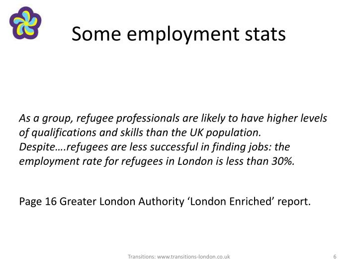 Some employment stats
